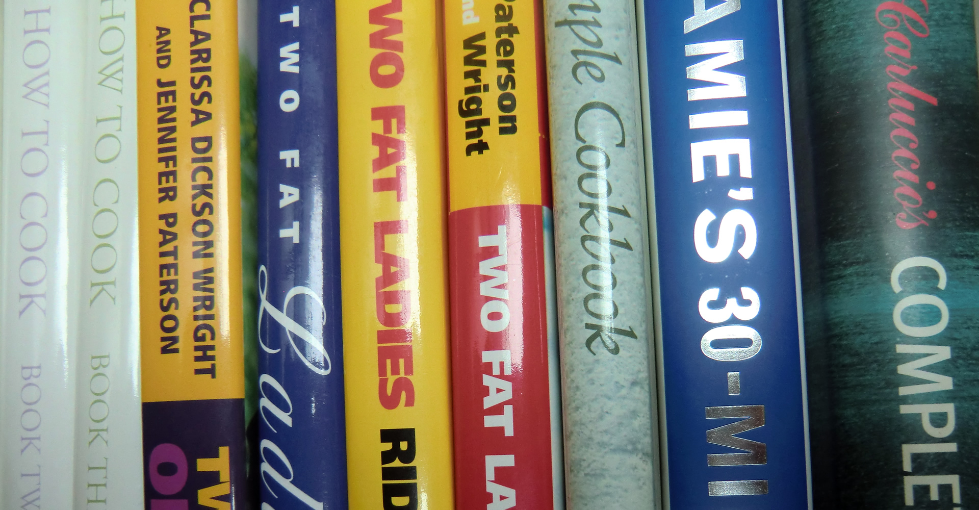 Photo: cookery books.
