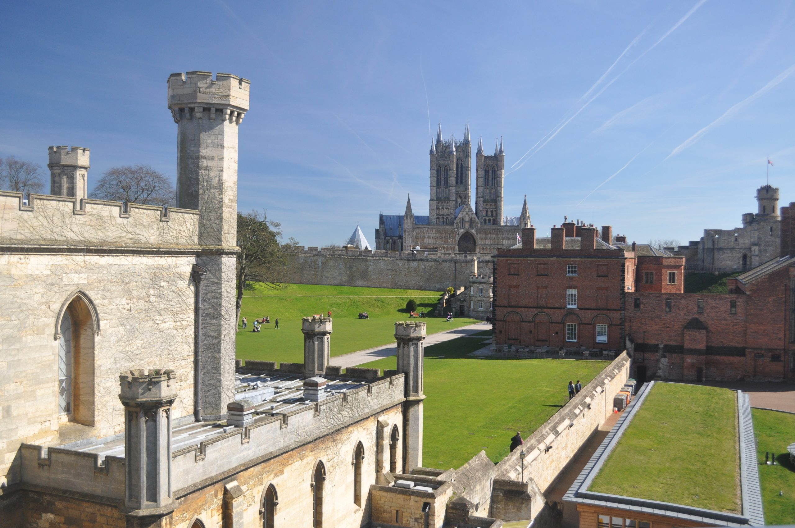 Photo: Lincoln Castle, with the Cathedral in the background