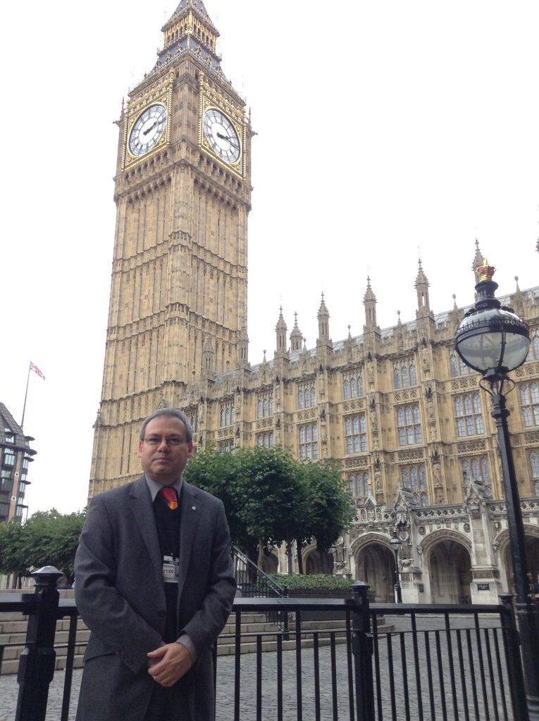 Photo: me at Westminster.