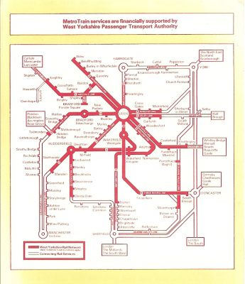 Image: MetroTrain diagram from around 1983.