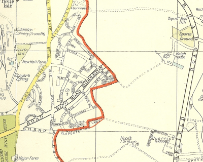 Image: Map of Leeds Outer Ring Road at Middleton.
