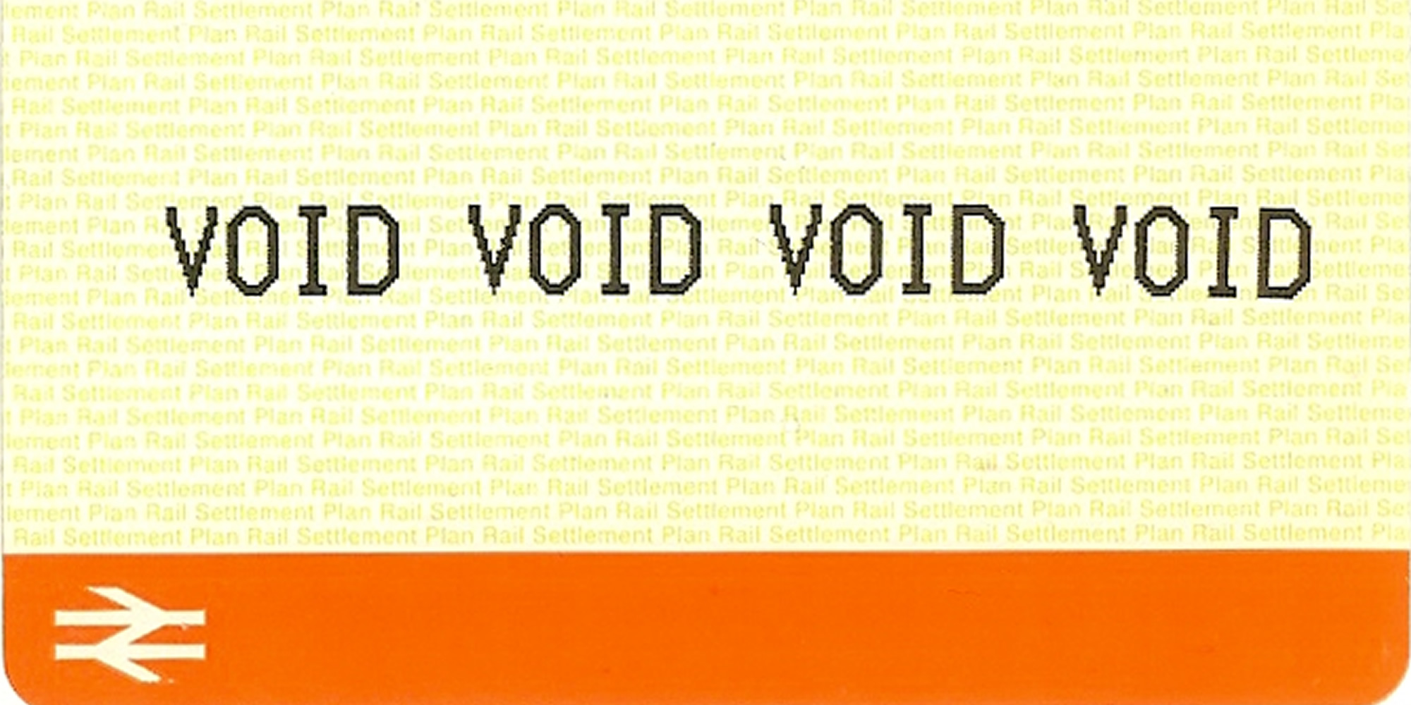 Image: voided train ticket
