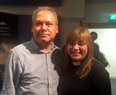 Photo: me with the Reverend Kate Bottley.