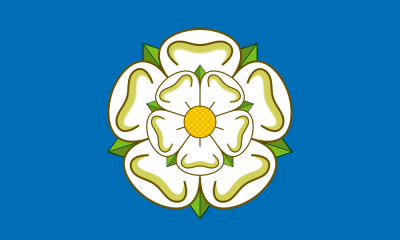 Image: Yorkshire flag (image lifted from Wikipedia).