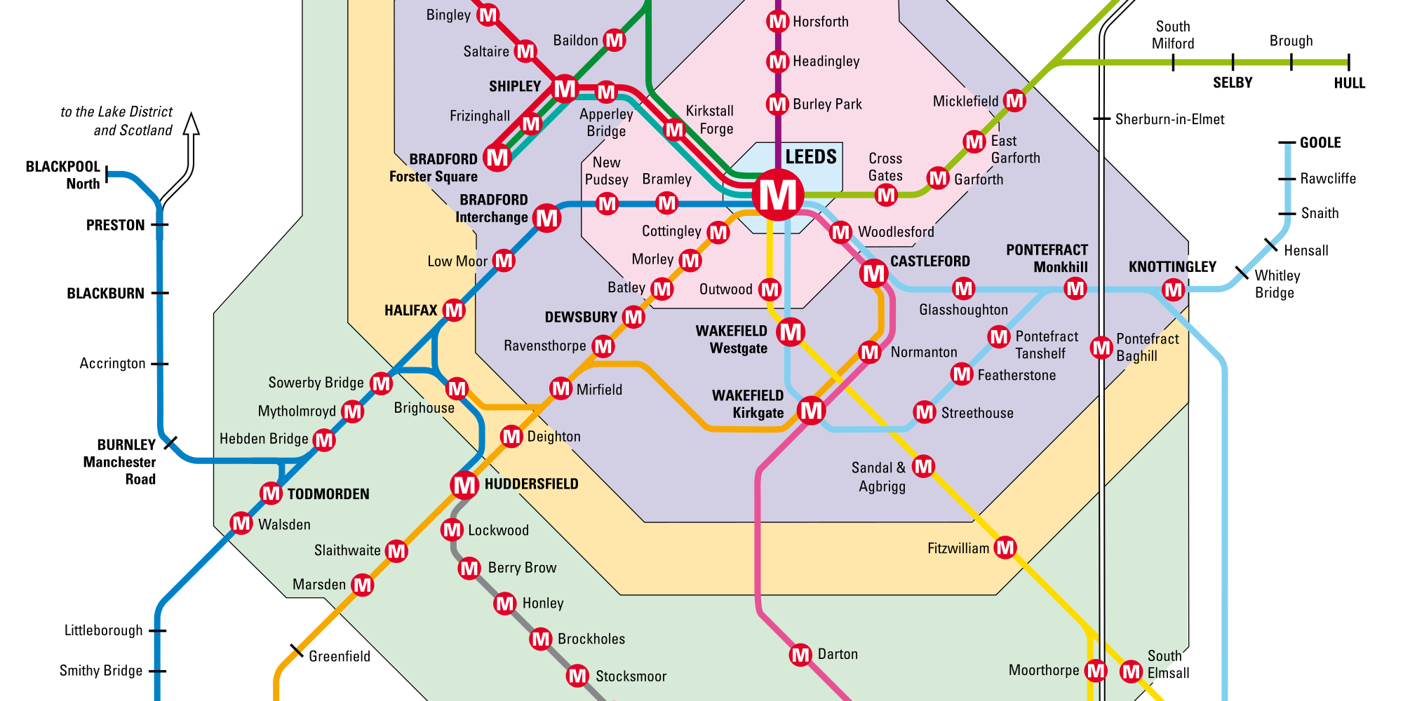 Image: extract of updated MetroTrain map